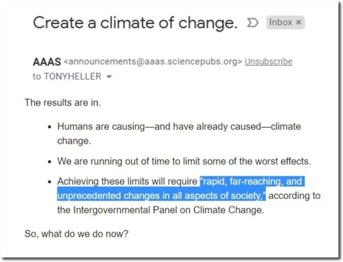 create climate change