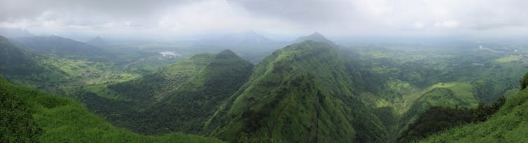 The same view in Maharashtra, India on August 28 2010, during the monsoon season.