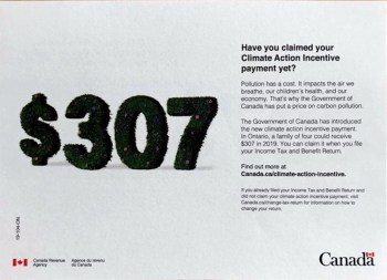 Canada govt carbon pollution flyer