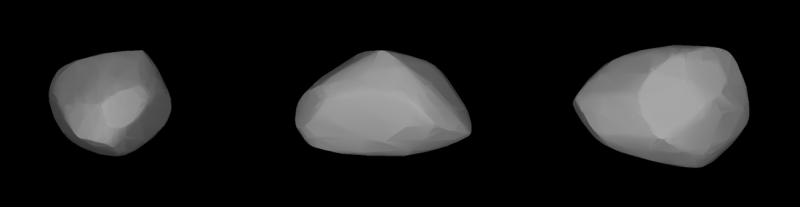 Models of asteroid shapes.