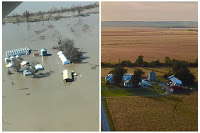 The flooded farm of Richard Oswald is seen in an aerial photo taken near Langdon, Missouri March 20, 2019. Courtesy of Richard Oswald/Handout via REUTERS/File Photo Click to Enlarge.