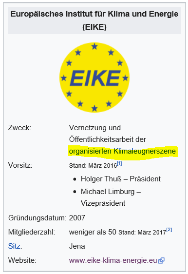 Wikipedia entry for EIKE