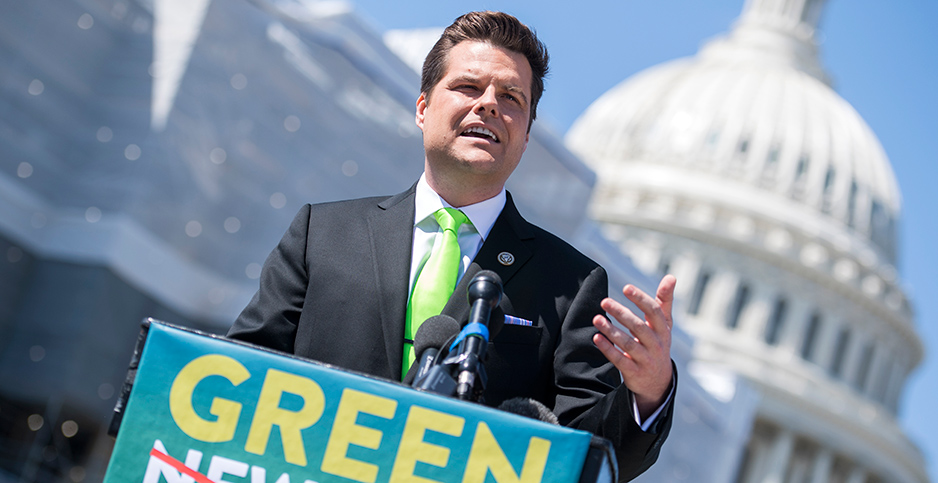 Rep. Matt Gaetz (R-Fla.). Photo credit: Tom Williams/CQ Roll Call/Newscom