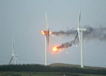 wind turbines fire