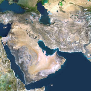 Warmer Arabian Gulf waters (the body of water in the centre of the image) will not be able to replenish the Arabian Sea (the body of water filling the lower right quadrant of the image), making the world's largest dead zone even larger.