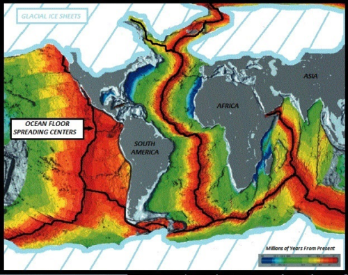 ocean floor major faults