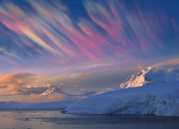 clouds over antarctica