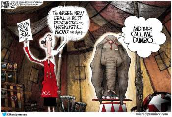 cartoon aoc green deal dumbo