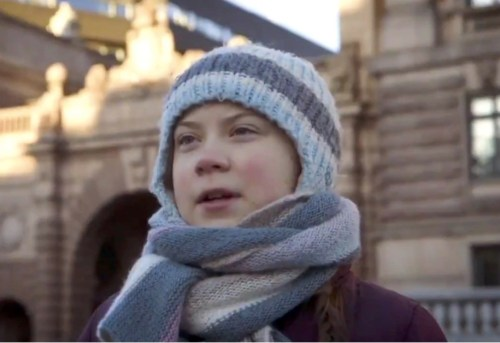 greta thunberg outdoors