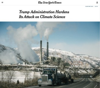 nytimes trump climate science