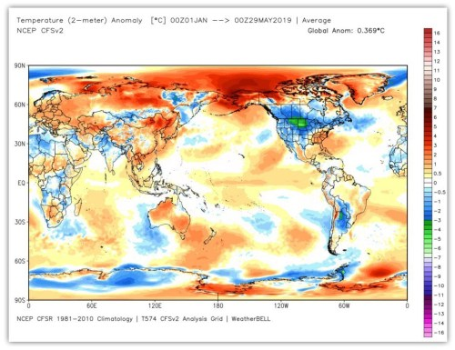global temp anomaly weatherbell