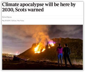 scots warned coming apocalypse
