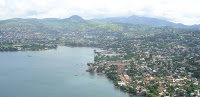 Freetown in Sierra Leone: Already hot and humid. (Image Credit: David Hond, via Wikimedia Commons) Click to Enlarge.