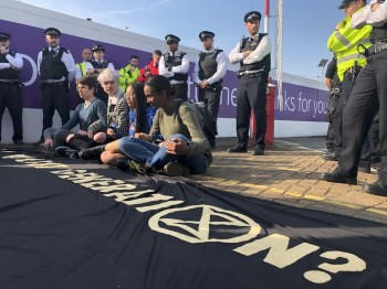 extinction rebellion protesters heathrow