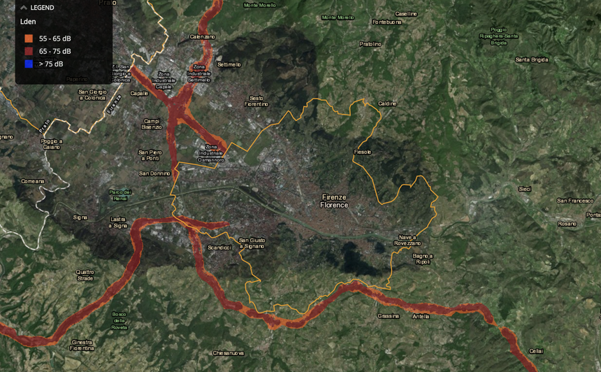 noise map of florence