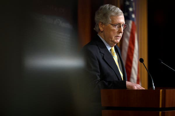 """Senator Mitch McConnell, Republican of Kentucky and the majority leader, said the filibuster for legislation was """"central to the nature of the Senate"""" and warned Democrats about the perils of getting rid of it."""