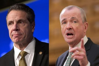 Govs. Andrew Cuomo (left) and Phil Murphy