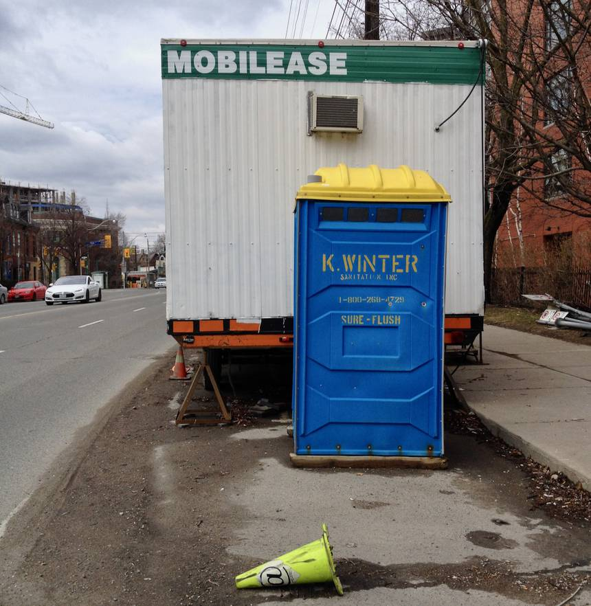 Life in the portable toilet lane