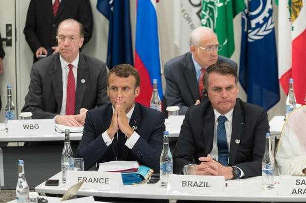 President Emmanuel Macron of France has accused his Brazilian counterpart Jair Bolsonaro of lying to him at the Group 20 Summit in Osaka, Japan.
