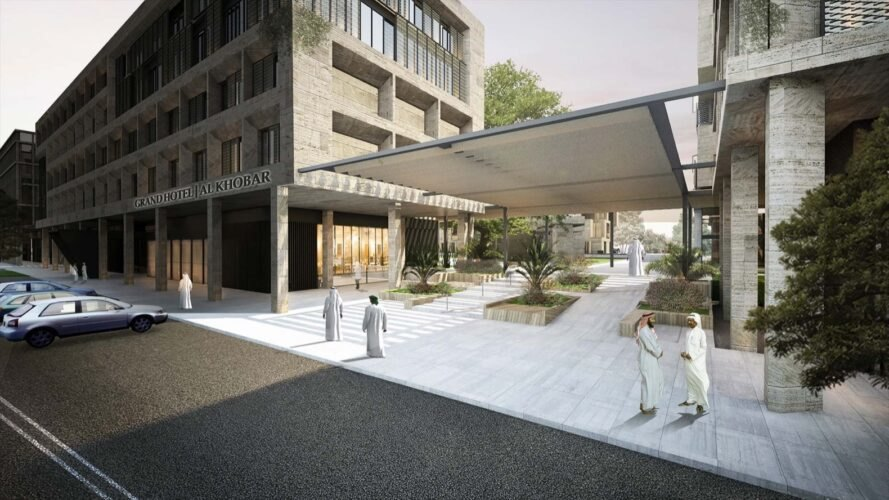 rendering of covered open-air patio