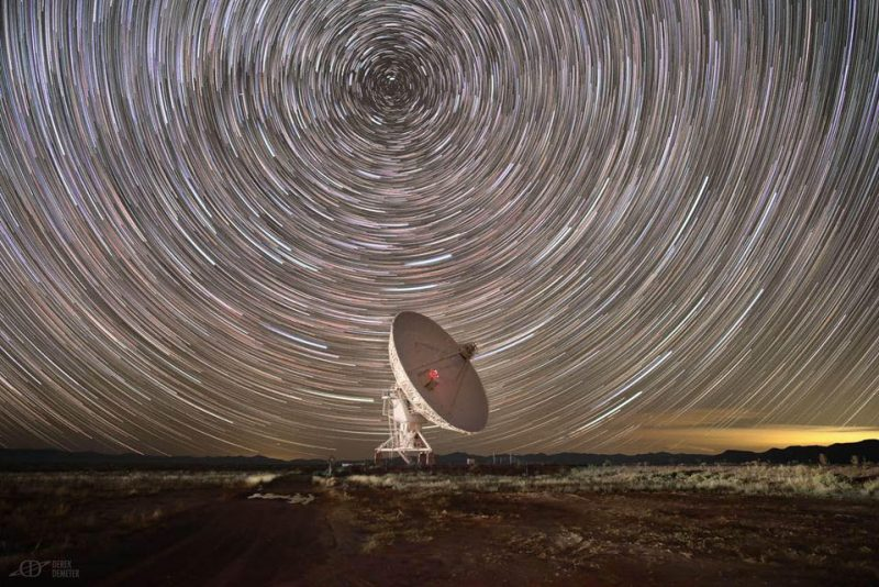 Array and circular star trails.