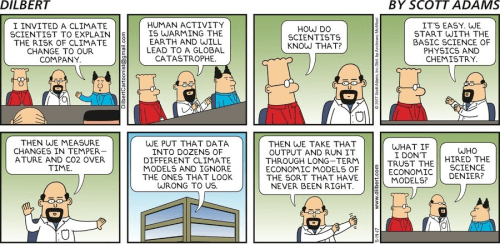 dilbert cartoon climate models