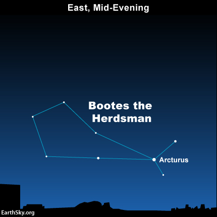 Kite-shaped constellation Bootes.