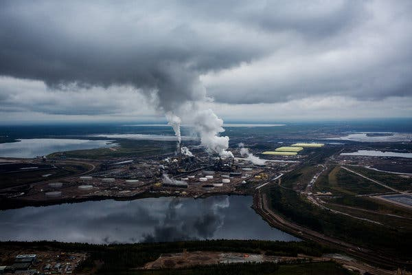 The Syncrude Canada plant north of Fort McMurray, Alberta.