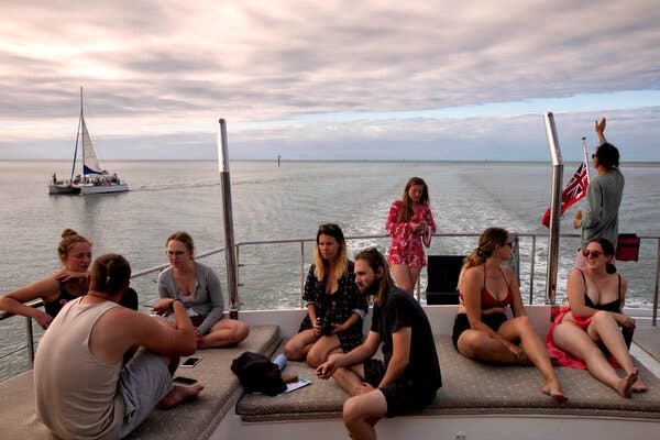 Passengers heading back to Cairns after exploring the reef.