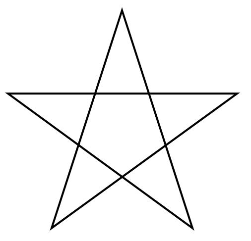 Five-pointed star.