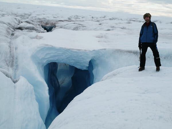 Dr. Steffen on the Greenland ice sheet in 2007. He died after falling into a crevasse near his research station there.