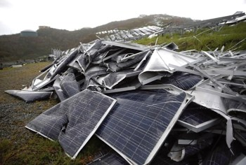 solar panels discarded
