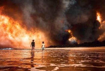 aussie wildfires beach