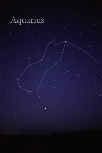 About 15 stars connected with lines to form an oblong in the night sky.