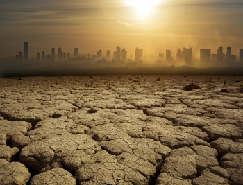 cracked earth drought city