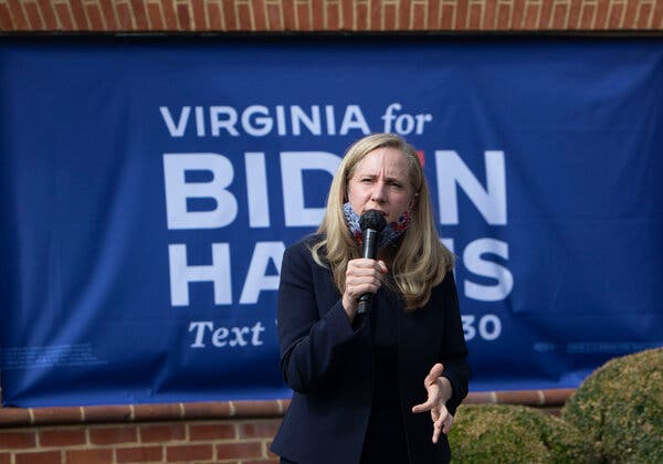 """Representative Abigail Spanberger of Virginia told House Democrats on a private call after the election that they should stop using the phrases """"socialism"""" and """"defund the police."""""""