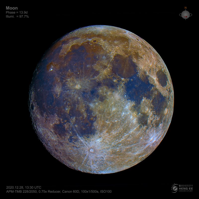 False color image of the moon.